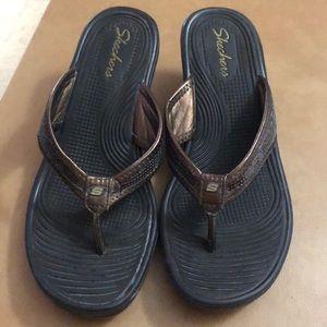 Brown Sketcher Sandals